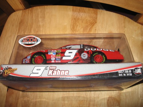 Kasey Kahne #9 Dodge 1/24 Scale Diecast Winners Circle Yellow Rookie Bumper Stripes Raybestos Rookie of the Year Logo on Roof - Kasey Kahne Bumper