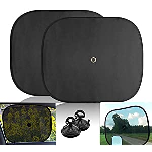 Big Ant Windshield Sun Shade + Bonus Car Window Sun Shade by Best Car Sun Shade to Keeps Vehicle Cool-UV Ray Protector Sunshade Fit for Cars Suv Trucks Minivans(55.1 x 27.5 inches)