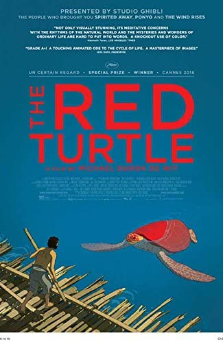 Amazon Com The Red Turtle Movie Poster 27 X 40 Emmanuel Garijo Tom Hudson A Made In The U S A Kitchen Dining