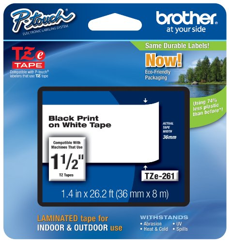 Brother Laminated Black White Inch