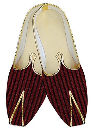 Poliéster Boda Mj07820 Forro Granate Negro Inmonarch Zapatos Hombres 7ACxBwWUq