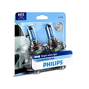 Philips H11 CrystalVision Ultra Upgrade Headlight/Foglight bulb, 2 Pack