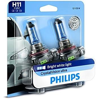 Philips H11 CrystalVision Ultra Upgrade Headlight/Foglight bulb, 2 Pack