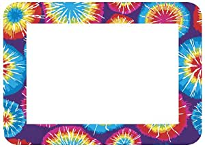 Fodeez Frames Trendy Kidz 5 x 7 Inches Photo Area Peel and Stick Adhesive Picture Frame/Dry Erase Board Tie Dye