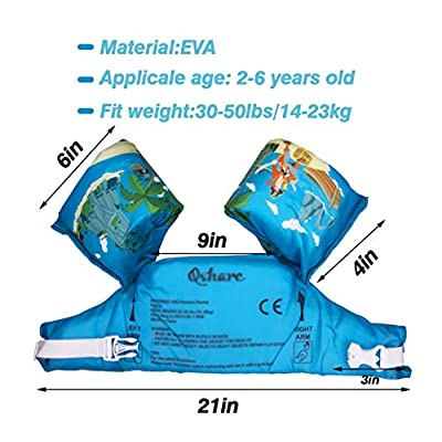 NOVOs Kids Life Jacket Vest for Pool, Baby Floats from 30 to 50lbs, Swim Aids for Toddlers, Kids Learn to Swim, Compatible for Infant, Baby, Toddler Baby Boys and Girls …: Sports & Outdoors