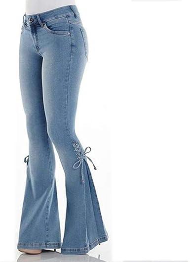 Vaqueros Mujer Bootcut Cintura Alta Morbuy Push Up Rectos Acampanados Pantalones Talla Grande Elastico Tejanos Skinny Slim Boyfriend Jeans Retro Casual Amazon Es Ropa Y Accesorios
