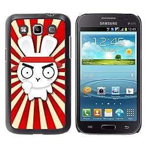 TopCaseStore / la caja del caucho duro de la cubierta de protección de la piel - Design Cute Rabbit Ninja Samurai - Samsung Galaxy Win I8550 I8552 Grand Quattro