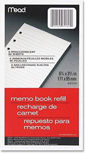 [Mead Small 6 Ring Black Vinyl Loose Leaf Memo Notebook] (6 Ring Memo Binder)