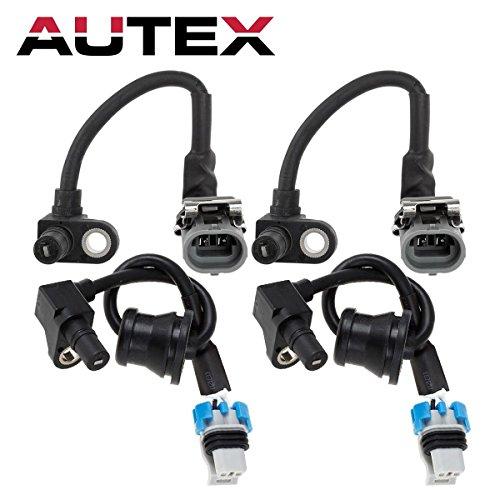 (AUTEX 4PCS ABS Wheel Speed Sensor Front & Rear ALS1343 ALS1344 compatible with Chevrolet Equinox 2005 2006 3.4L/Pontiac Torrent 2006 3.4L/Saturn Vue 2002 2003 2004 2005 2006 2007 2.2L 3.0L 3.5L)