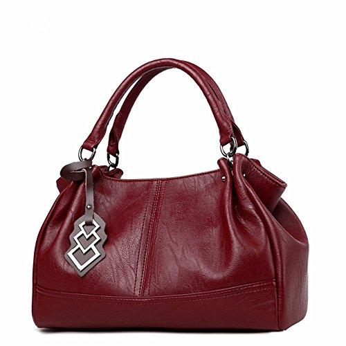 à Grande de des CCZUIML Bag Sac de bandoulière Sacs Mode à Main Femmes rouge la capacité xwvwTnaqO