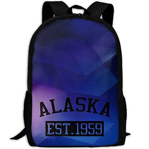 Alaska Est 1959 Interest Print Custom Unique Casual Backpack School Bag Travel Daypack Gift