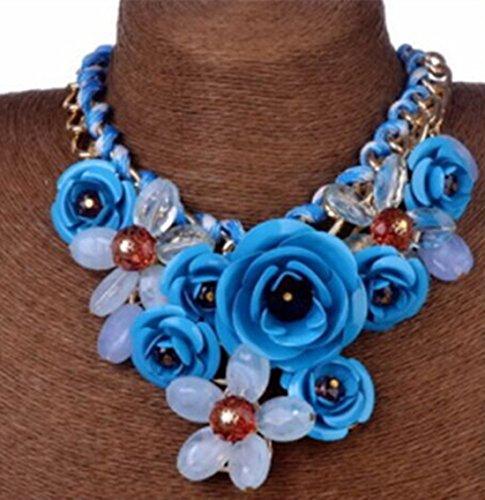 Sunflower@ Fashion Style Crystal Flower Bib Big Statement...