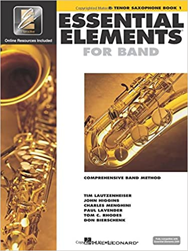 Amazon com: Essential Elements for Band - Bb Tenor Saxophone Book 1