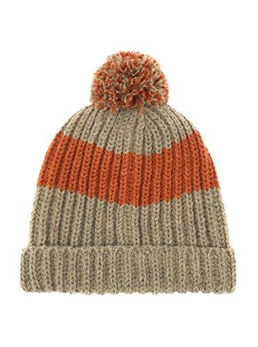 Alpaca Wool & Acrylic Blend Vintage Style Beanie/Tossle Cap - Knit Beanie Hat with Pom Pom - Unisex (Pumpkin Spice Latte)