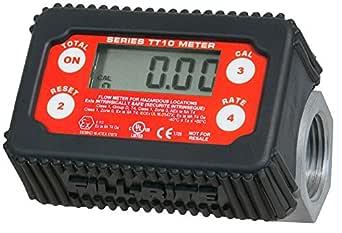 "Fill-Rite TT10AN 1"" 2-35 GPM(8-132 LPM) Digital In-line Turbine Meter, Aluminum,  Fuel Transfer Meter"