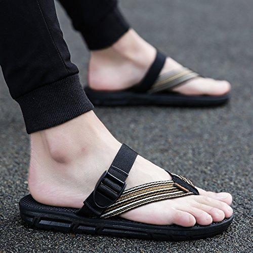 Marrone moda casual raffreddare e scarpe all'aperto i fankou In il clip trascinare A piedi slittamento campo estate scuro da anti ciabatte spiaggia aawRZxqf8
