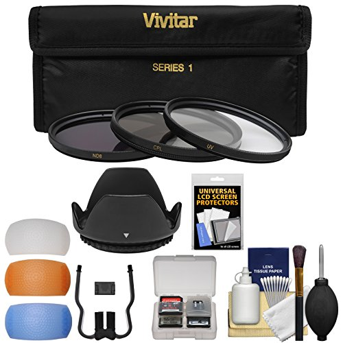 (Vivitar 3-Piece Multi-Coated HD Filter Set (72mm UV/CPL/ND8) with Lens Hood + Diffusers + Accessory Kit)