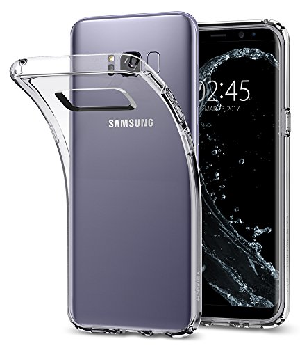 Spigen Liquid Crystal Galaxy S8 Plus Case with Slim Protection and Premium Clarity for Galaxy S8 Plus (2017) - Crystal Clear
