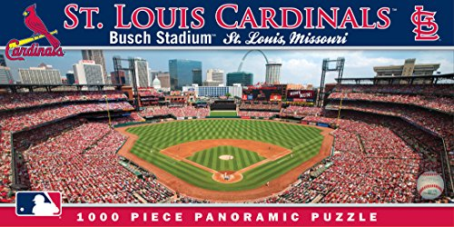 MasterPieces MLB St. Louis Cardinals Stadium Panoramic Jigsaw Puzzle, (St Louis Cardinals Stadium Seats)