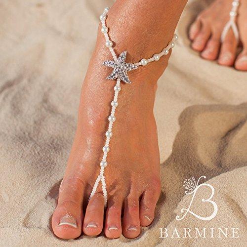 a9e5ae5a62db Amazon.com  The Fiji Beach wedding barefoot sandals Bridal foot jewelry  Starfish barefoot sandles Beach shoes Footless sandals Bridesmaid gift   Handmade