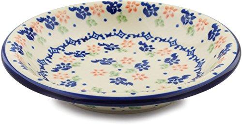 Polish Pottery Pasta Bowl 9-inch Diamond Daisy ()
