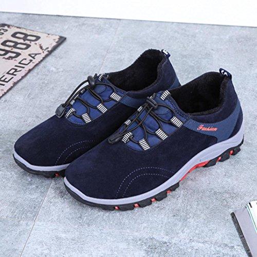 Sneakers Asia Unisex Scarpe Donna Tennis Ginnastica Uomo UOMOGO® Sportive Respirabile Blu Mesh Outdoor Basse da 42 Running Adulto qBtxA