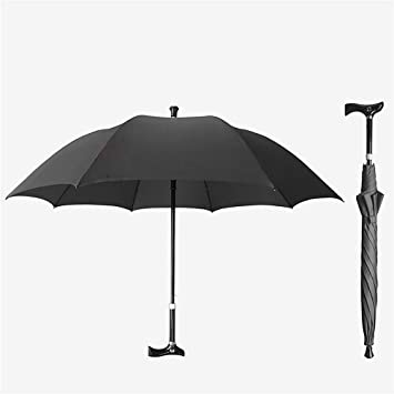Wanson Bastón multifuncional para senderismo y actividades al aire libre, paraguas telescópico, barra de