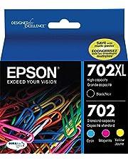 Genuine Epson 702XL + 702 4-Ink Cartridge Value Pack