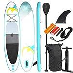 NA-Sport-Acquatici-per-Uomini-e-Donne-UrquoiseGiallo-SUP-Tavola-da-Surf-Surf-Pensione-inclAccessori-SUP320-Stand-320x78x15cm-Up-Paddle-Consiglio
