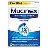 Mucinex Chest Congestion Guaifenesin 600 Mg Tablets Expectorant 40 Count