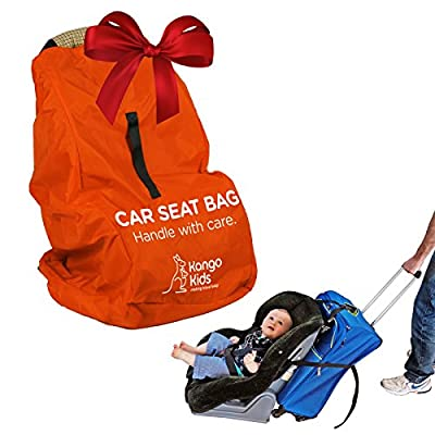 Car Seat Travel Bag - Make Travel Easier, Save Money and Protect your Child's Car Seat. Ultra Durable, Easy to Carry Padded Backpack and Compatible with Most Brands. Bonus Travel Accessory Strap!