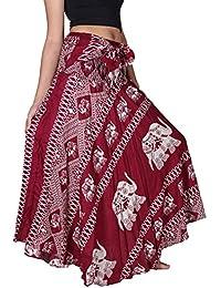 Bangkokpants Women's Long Bohemian Hippie Skirt Elephant...