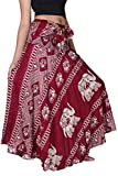 Bangkokpants Women's Long Bohemian Hippie Skirt Boho Dresses Gypsy Clothes Elephant One Size (Red, One Size)