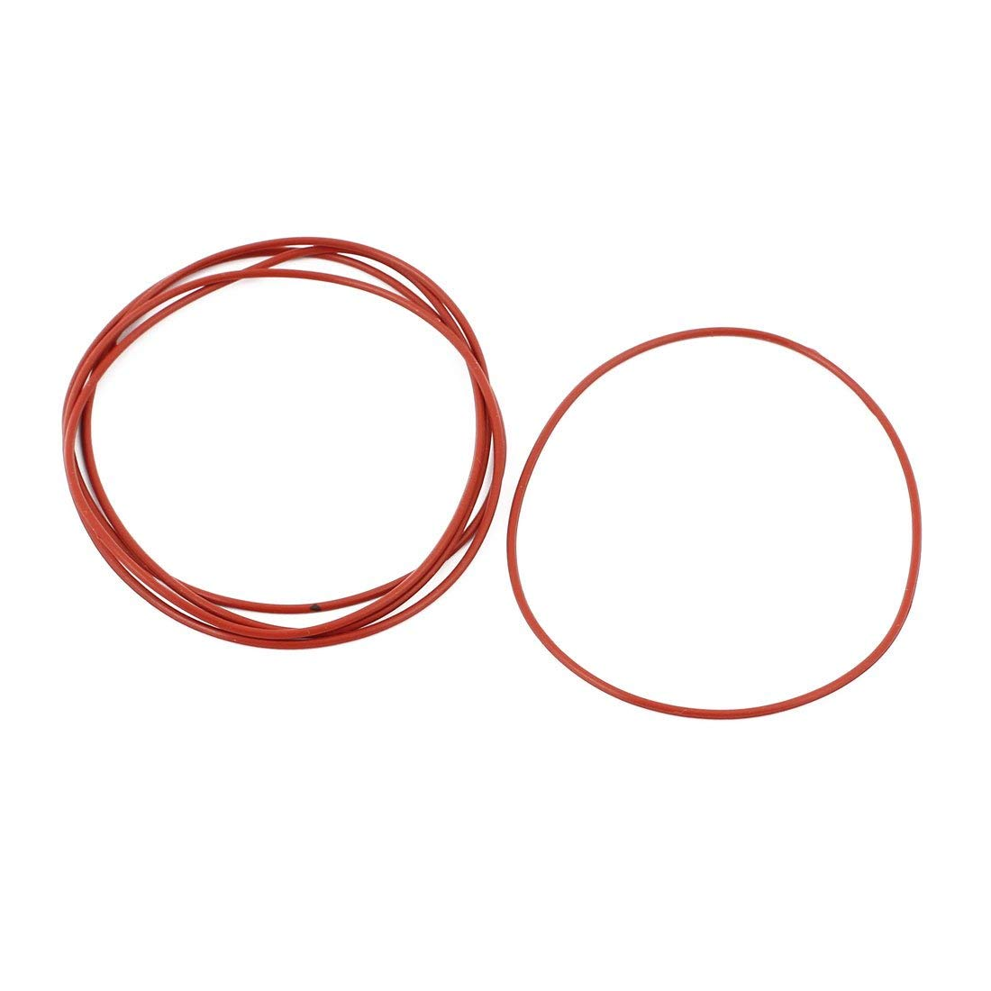 5Pcs Red 70mm x 1.5mm Silicone Rubber Gasket O-Ring Heat-Resistant Sealing Ring