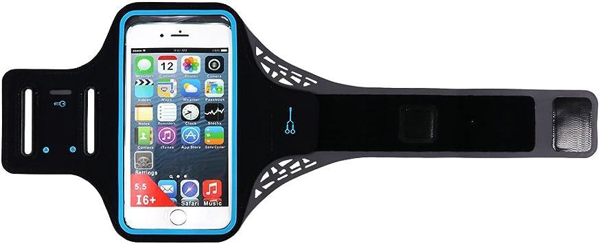 villavivi Unisex banda de brazo Armband portacellulare funda deportiva para Smartphone (4.5 – 5.5 pulgadas) con compartimento de llave – Negro: Amazon.es: Electrónica