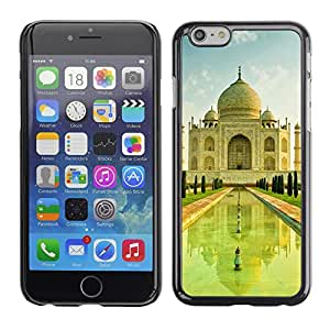 Graphic4You Taj Mahal India Postcard Design Hard Case Cover for Apple iPhone 6