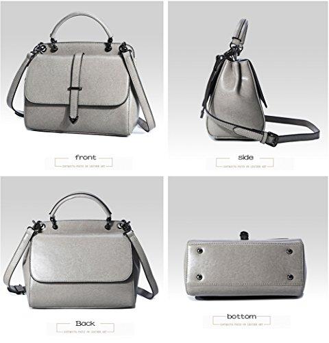 Fashion Grey Trends Crossbody Fashion Womens Yellow Cowhide HopeEye earthy 2 Cowhide Bag Handbags Backpack pv5qT6