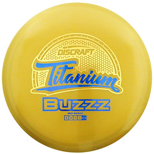 Discraft Titanium Golf Disc, Nate Doss Buzzz Mid-Range Driver, 174-178gm, Assorted colors