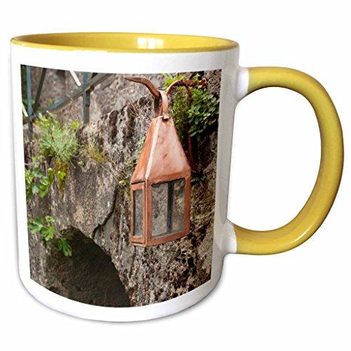 3dRose Danita Delimont - France - France, Corsica, Corte, Citadel, lantern - EU09 WBI3358 - Walter Bibikow - 15oz Two-Tone Yellow Mug (mug_136494_13)