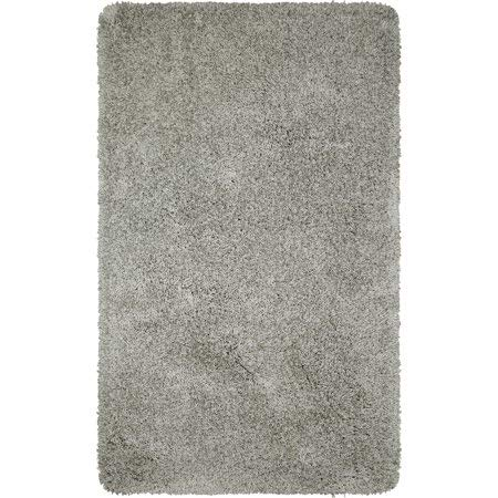 "Better Homes & Gardens Thick and Plush Nylon Bath Rug Collection, 23""x39"", Soft Silver from Maples Industries Inc."