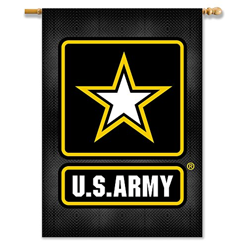 [U.S. Army 2-Sided Banner with Pole Sleeve (28-Inch x 40-Inch)] (Premium 2 Sided Banner Flag)