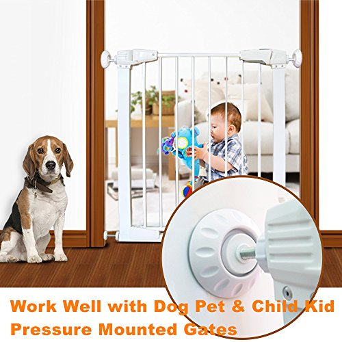 LRBB 4 Pack Baby Safety Gate Wall Protector, Wall Guard Pads Work With Dog Pet Child Walk Through Pressure Gates,Fit for The Bottom of Gate Bumpers & Tension Rod by LRBB (Image #1)