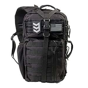 3V Gear Outlaw Sling Pack Over the Shoulder Day Bag-Black