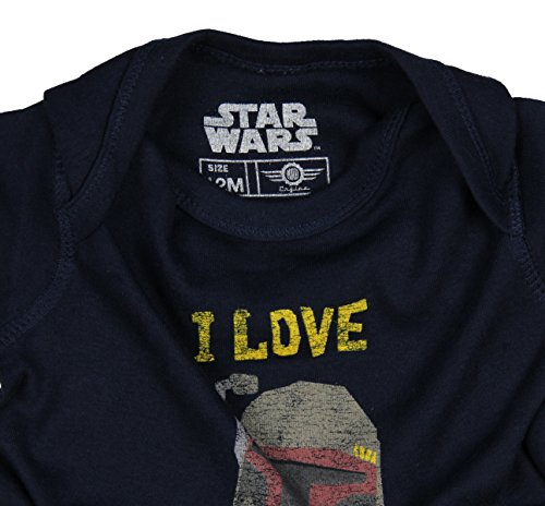 Mad Engine Star Wars Unisex Baby Boba Fett I Love My Boba Romper Snapsuit