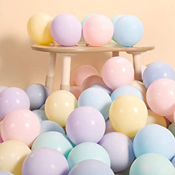 Pack of 50 Pastel Latex Balloons Macaron Candy Mixed Colored Party 10/'/' Balloon