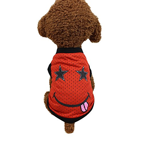 As-long Classic Pet Cat Dog Vest T Shirt Clothing Summer Puppy Outdoor Sleeveless Clothes Apparel (XL, Red)