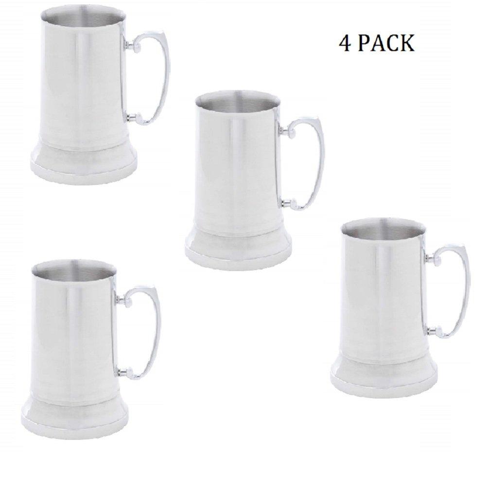 Maxam 20oz Stainless Steel Beer Mug (4)