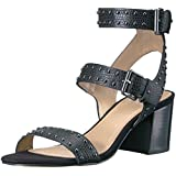 The Fix Women's Bond Studded Block Heel Dress Sandal, Black, 7.5 B US