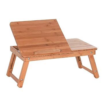 Soportes de regazo Ordenador portátil de refrigeración para ordenador portátil cama Mesa plegable de bambú para uso doméstico mesa auxiliar para escritorio ...