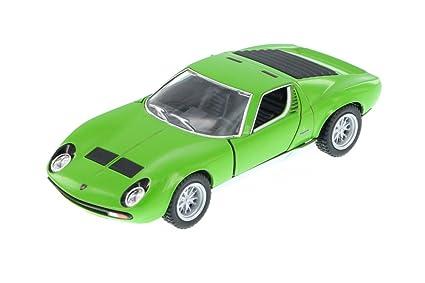 Amazon Com Kinsmart 1971 Lamborghini Miura P400 Sv Hard Top Green